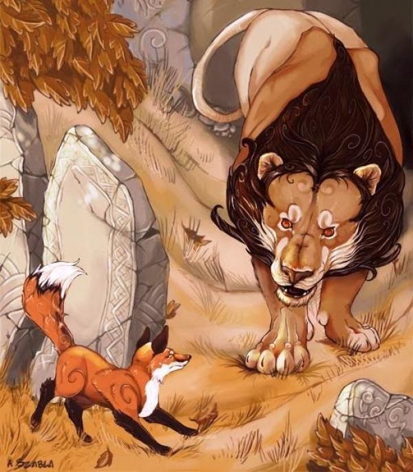 Το λιοντάρι, η αλεπού και η ελαφίνα